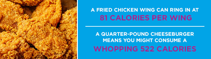 fried chicken wing calories
